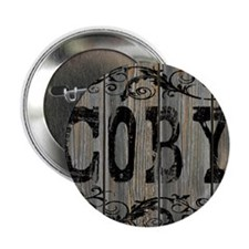 """Coby, Western Themed 2.25"""" Button"""