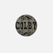 Colby, Western Themed Mini Button