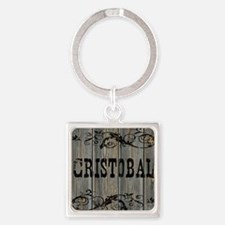 Cristobal, Western Themed Square Keychain