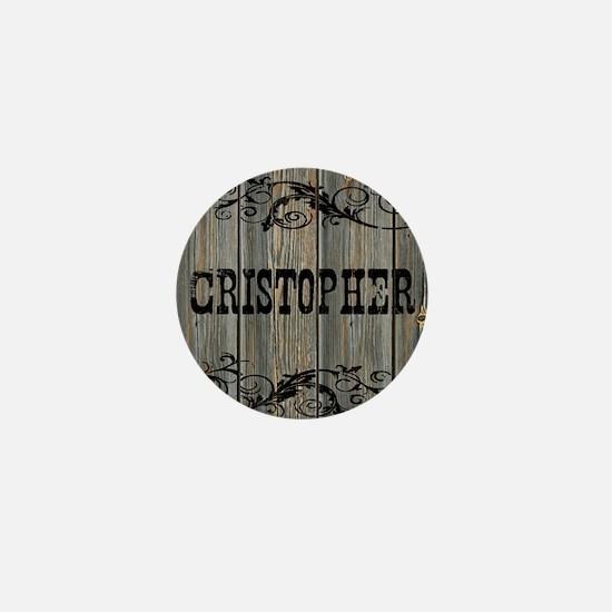 Cristopher, Western Themed Mini Button