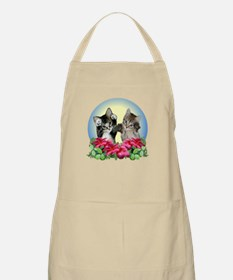 Cute Kittens with Paws Up BBQ Apron