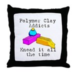 Polymer Clay Addicts Throw Pillow
