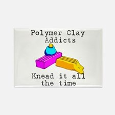 Polymer Clay Addicts Rectangle Magnet