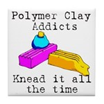 Polymer Clay Addicts Tile Coaster