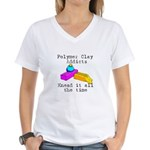 Polymer Clay Addicts Women's V-Neck T-Shirt