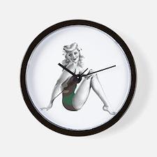 Camo Babe 2 Wall Clock
