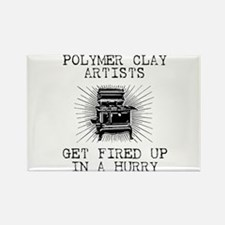 Polymer Clay Artists Rectangle Magnet