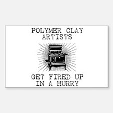 Polymer Clay Artists Rectangle Decal