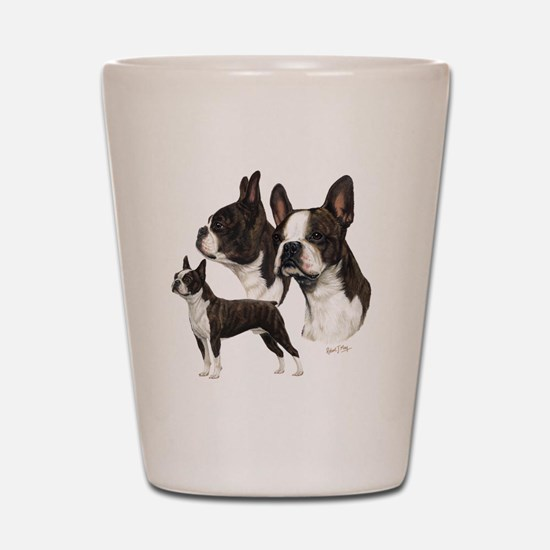 Boston Terrier Shot Glass