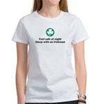 Feel Safe at Night Sleep with Women's T-Shirt