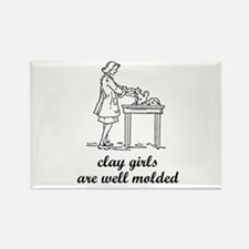 Clay Girls are Well Molded Rectangle Magnet