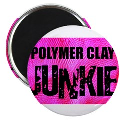 Polymer Clay Junkie Magnet