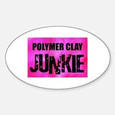Polymer Clay Junkie Oval Decal