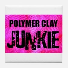 Polymer Clay Junkie Tile Coaster