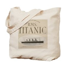 RMS Titanic Sepia Tote Bag