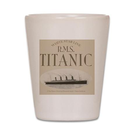 RMS Titanic Sepia Shot Glass