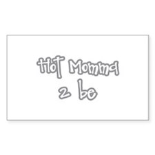 Hot Momma 2 be Rectangle Decal