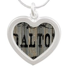 Dalton, Western Themed Silver Heart Necklace