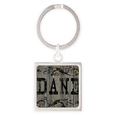 Dane, Western Themed Square Keychain