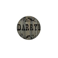Darryl, Western Themed Mini Button