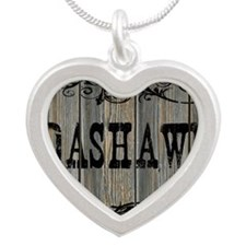 Dashawn, Western Themed Silver Heart Necklace