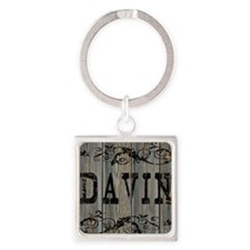 Davin, Western Themed Square Keychain