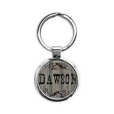 Dawson, Western Themed Round Keychain