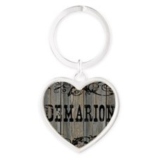 Demarion, Western Themed Heart Keychain