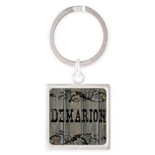 Demarion, Western Themed Square Keychain