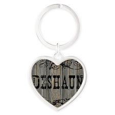 Deshaun, Western Themed Heart Keychain