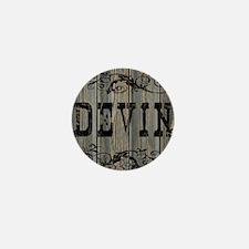 Devin, Western Themed Mini Button