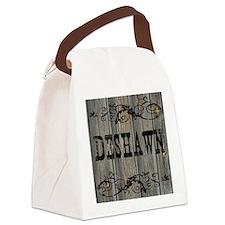 Deshawn, Western Themed Canvas Lunch Bag