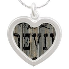 Devin, Western Themed Silver Heart Necklace