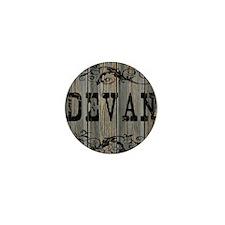 Devan, Western Themed Mini Button