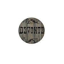 Devonte, Western Themed Mini Button