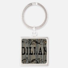 Dillan, Western Themed Square Keychain