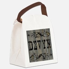 Devyn, Western Themed Canvas Lunch Bag
