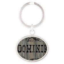 Dominik, Western Themed Oval Keychain
