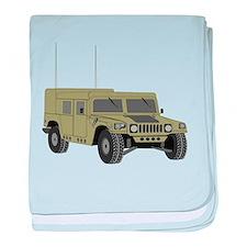 Military Humvee baby blanket