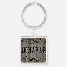 Donavan, Western Themed Square Keychain