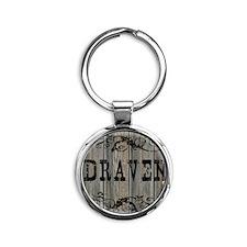 Draven, Western Themed Round Keychain
