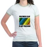 Polymer Clay is my Passion Jr. Ringer T-Shirt