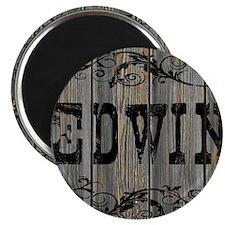 Edwin, Western Themed Magnet