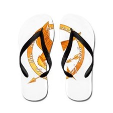 may the odds mockingjay 200dpi Flip Flops