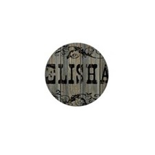 Elisha, Western Themed Mini Button