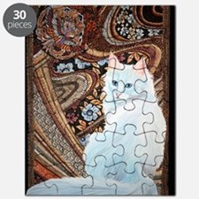 White Turkish Angora square Puzzle