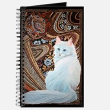 White Turkish Angora square Journal