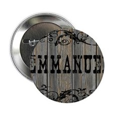 "Emmanuel, Western Themed 2.25"" Button"