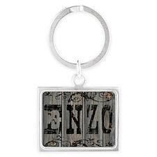 Enzo, Western Themed Landscape Keychain