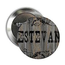 "Estevan, Western Themed 2.25"" Button"